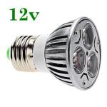 Bec Spot LED E27 3x1W Power Led 12V