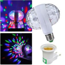 Bec LED E27 220V Multicolor Rotativ Doua Directii