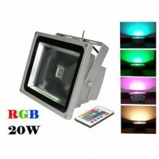 Proiector LED 20W 220V RGB Telecomanda