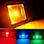 Proiector LED 20W 220V Slim RGB Telecomanda