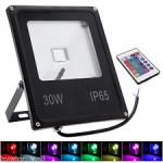 Proiector LED 30W 220V Slim RGB Telecomanda