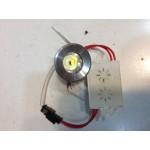 Spot LED 1x1W Rotund Fix Argintiu 220V