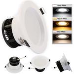 Spot LED 3W 220V Argintiu 3 Functii