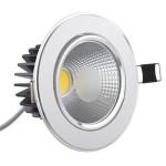 Spot LED 3W COB Rotund Mobil Argintiu