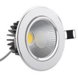 Spot LED 10W COB Rotund Mobil Argintiu