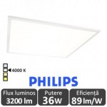 Panou LED 36W 60x60cm Ultra Slim Alb Natural