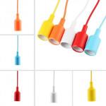 Pendul  E27 Silicon Diverse Culori